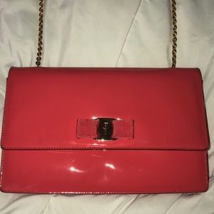 AUTHENTIC Salvatore Ferragamo pink purse